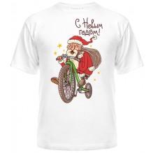 Дед Мороз на велосипеде