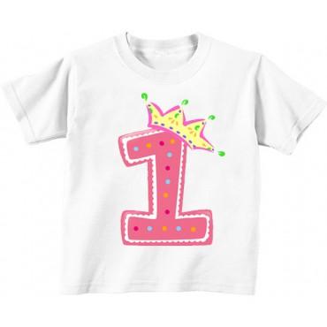 Детская футболка 1 в короне девочка