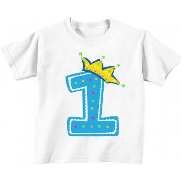 Детская футболка 1 в короне мальчик