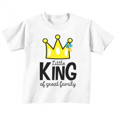 Футболка детская Little king of greatest family