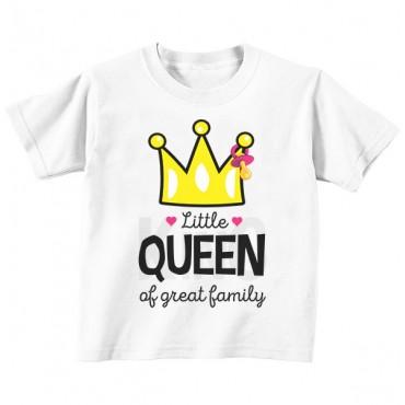 Футболка детская Little queen of greatest family